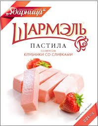 Russian Style Paste Strawberry with Cream
