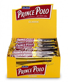 Dark Chocolate Covered Wafer Classic by Prince Polo (Pack of 32 bars)