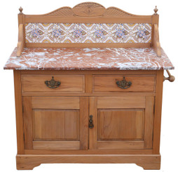 Victorian satinwood marble washstand or dressing table