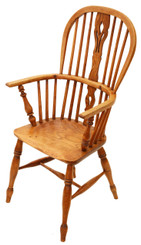 Victorian ash elm Windsor armchair chair hall side carver dining