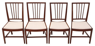 Set of 4 mahogany Georgian dining chairs
