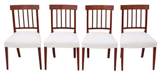 Set of 4 mahogany 19th Century dining chairs