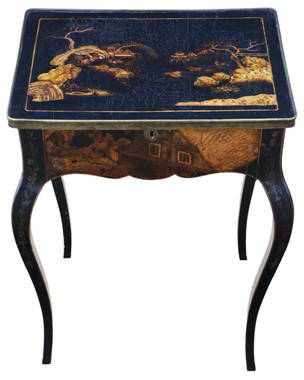 Chinoiserie work side sewing table box