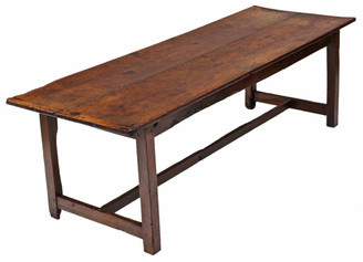 Large 2 plank elm refectory dining table kitchen 8'