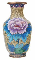 Mid 20th Century Chinese cloisonne vase