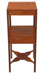 Georgian mahogany bedside cupboard cabinet table washstand