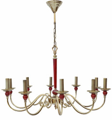 10 lamp brass ormolu Empire chandelier FREE DELIVERY