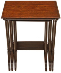 Nest of 3 oak side or occasional tables