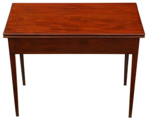 Georgian mahogany folding card tea console table