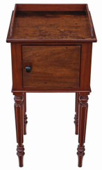 Victorian C1880 mahogany bedside table cupboard cabinet