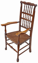 19th Century ash elm armchair chair hall side dining carver