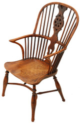 Yew & elm Windsor armchair chair hall side dining carver