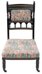 Victorian Aesthetic ebonised nursing parlour chair