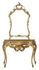 Giltwood console table side occasional and mirror