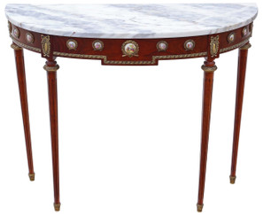 Mahogany marble console table side occasional