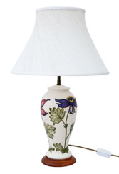 Ceramic Moorcroft table lamp with shade