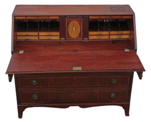 Georgian 19C mahogany bureau desk writing table