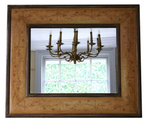 William & Mary marquetry style overmantle or wall mirror
