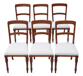 Set of 6 mahogany Victorian dining chairs