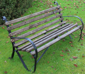 Wrought iron and wood 5' garden or park bench
