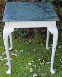 Shabby chic marble plant side table