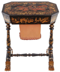 Chinoiserie work sewing table box
