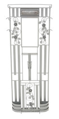 Large wrought iron hall, coat, hat, stick, umbrella stand