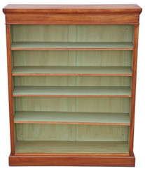 Victorian style walnut adjustable bookcase