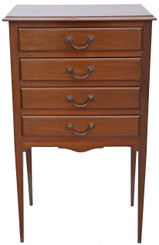Mahogany music cabinet chest of drawers