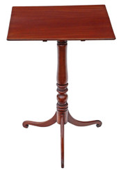 Georgian mahogany supper tilt top table