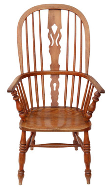 Victorian C1840 ash & elm Windsor armchair chair armchair dining