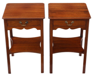 Pair of Georgian mahogany bedside tables