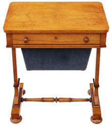 William IV C1835 birdseye maple work / sewing table