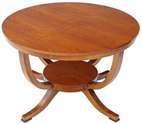 Art Deco maple centre window dining table