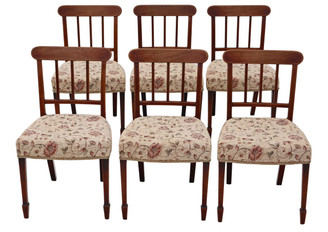 Set of 6 Victorian C1850 mahogany dining chairs