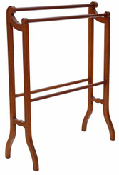 Edwardian inlaid mahogany stand towel rail
