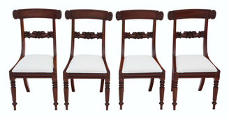 Set of 4 William IV mahogany bar back dining chairs C1835
