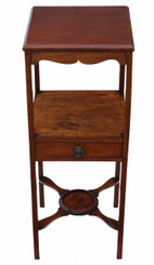 George III C1810 mahogany washstand bedside table
