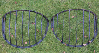 Pair of wrought iron horse hay feeders