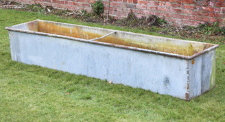 Reclaimed large huge galvanised steel planter water feeder