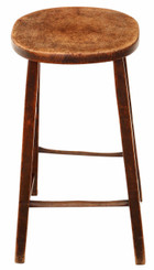 18th Century mahogany high stool