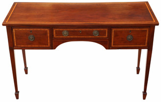 19th Century inlaid mahogany writing desk