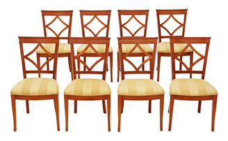 Set of 8 Bradley dining chairs