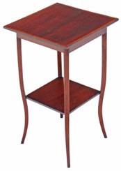 Edwardian inlaid mahogany side table plant table