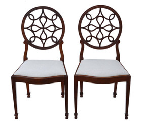 Pair of Georgian revival dining chairs