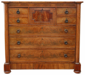 Regency flame mahogany chest of drawers C1820-30
