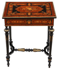19th Century marquetry dressing table side occasional