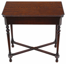 Georgian revival C1920 Maple & Co. oak folding card table