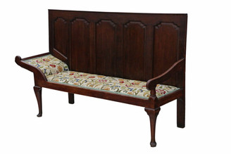 Georgian oak settle bench daybed