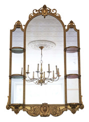 Victorian overmantle or wall mirror C1860